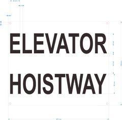 ELEVATOR HOISTWAY SIGN- WHITE BACKGROUND (ALUMINUM SIGNS 10X12)