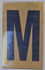 Apartment number sign M – (GOLD ALUMINUM SIGNS 4X2.5)