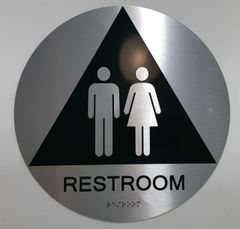 UNISEX RESTROOM ADA SIGNS -The sensation line