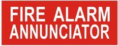 FIRE ALARM ANNUNCIATOR SIGN (ALUMINUM SIGNS 3X7.75)