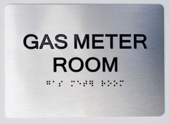 GAS METER ROOM ADA Sign - The sensation line