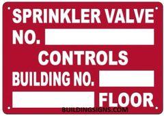 SPRINKLER VALVE REGISTRATION NUMBER SIGN (ALUMINUM SIGNS 7X10)