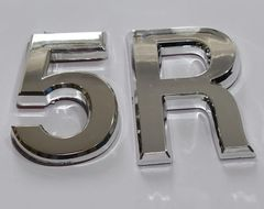 z- APARTMENT, DOOR AND MAILBOX LETTER 5R SIGN - LETTER SIGN 5 R- SILVER (HIGH QUALITY PLASTIC DOOR SIGNS 0.25 THICK)