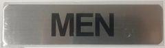 MEN SIGN - BRUSHED ALUMINUM (ALUMINUM SIGNS 2X8)- The Mont Argent Line