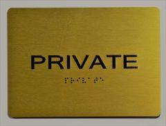 PRIVATE Sign- GOLD