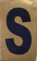 Apartment number sign S – (GOLD ALUMINUM SIGNS 4X2.5)