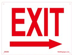 Exit Right Sign (Aluminum)