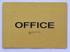 OFFICE Sign- GOLD