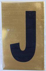 Apartment number sign J – (GOLD ALUMINUM SIGNS 4X2.5)