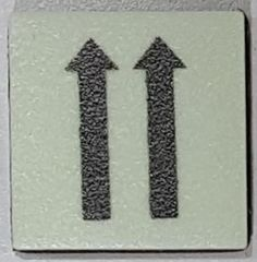 PHOTOLUMINESCENT 2 UP ARROWS SIGN The Liberty Line (Aluminum SIGNS 1x1, 3 RCNY §505-01)