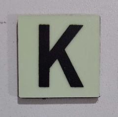 Glow in dark Number K sign The Liberty Line (Aluminum SIGNS 1x1, 3 RCNY §505-01)