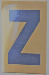 Apartment number sign Z – (GOLD, ALUMINUM SIGNS 4X2.5)