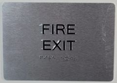 FIRE EXIT SIGN- BRAILL (ALUMINUM SIGNS 5X7)