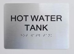 HOT WATER TANK ADA Sign - The sensation line