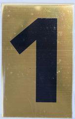 Apartment number sign 1 – (GOLD, ALUMINUM SIGNS 4X2.5)