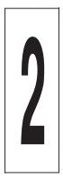 "PHOTOLUMINESCENT DOOR NUMBER 2 SIGN HEAVY DUTY / GLOW IN THE DARK ""DOOR NUMBER TWO"" SIGN HEAVY DUTY (ALUMINUM SIGN/ APARTMENT AND EMERGENCY MARKINGS 1.5 X 0.5)"