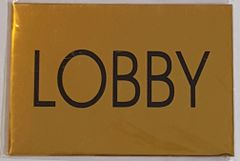 LOBBY SIGN – GOLD ALUMINUM (4X5.75)