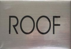 ROOF FLOOR SIGN - BRUSHED ALUMINUM