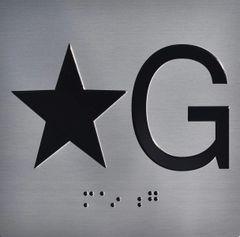 ELEVATOR JAMB- STAR G – SILVER (ALUMINUM SIGNS 4X4)