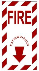 FIRE EXTINGUISHER SIGN (ALUMINUM SIGN SIZED 6X3)