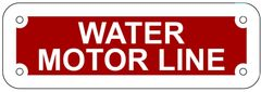 WATER MOTOR LINE SIGN- REFLECTIVE !!! (ALUMINUM 2X6)