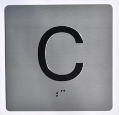 ELEVATOR JAMB- C - SILVER (ALUMINUM SIGNS 4X4)