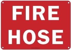 FIRE HOSE SIGN (ALUMINUM SIGNS 7X10)