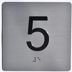 ELEVATOR JAMB- 5 - SILVER (ALUMINUM SIGNS 4X4)