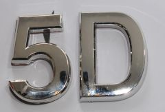 z- APARTMENT, DOOR AND MAILBOX LETTER 5D SIGN - LETTER SIGN 5 D- SILVER (HIGH QUALITY PLASTIC DOOR SIGNS 0.25 THICK)