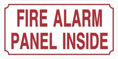 FIRE ALARM PANEL INSIDE SIGN (ALUMINUM SIGNS 6X12)