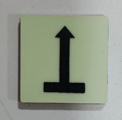 Glow in dark Upwards Arrow Emergency Marking Sign The Liberty Line (Aluminum SIGNS 1x1, 3 RCNY §505-01)