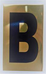 Apartment number sign B – (GOLD, ALUMINUM SIGNS 4X2.5)