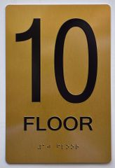 10th FLOOR SIGN- GOLD