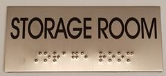 STORAGE ROOM SIGN – STAINLESS STEEL (3X6.75)