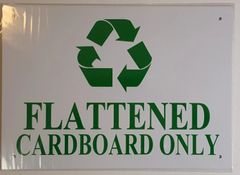 FLATTENED CARDBOARD ONLY SIGN– WHITE ALUMINUM (10X14)