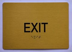 EXIT SIGN- GOLD