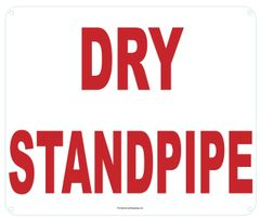 DRY STANDPIPE SIGN (ALUMINUM SIGNS 10X12)