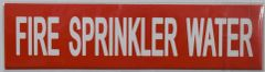 FIRE SPRINKLER WATER SIGN (STICKER 2X8)