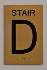 STAIR D SIGN- GOLD