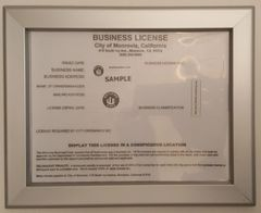 BUSINESS LICENSE FRAME CA 8.5 X 11 (HEAVY DUTY)