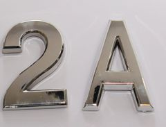 z- APARTMENT, DOOR AND MAILBOX LETTER 2A SIGN - LETTER SIGN 2 A- SILVER (HIGH QUALITY PLASTIC DOOR SIGNS 0.25 THICK)