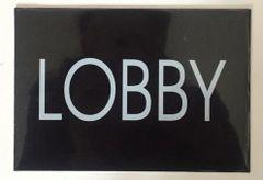 LOBBY SIGN – BLACK (4X5.75)