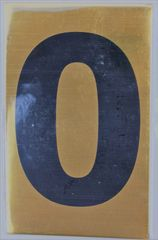 Apartment number sign O – (GOLD ALUMINUM SIGNS 4X2.5)