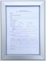 Fire Safety Plan Frame 8.5 x 11 (Heavy Duty - Aluminum)