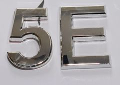 z- APARTMENT, DOOR AND MAILBOX LETTER 5E SIGN - LETTER SIGN 5 E- SILVER (HIGH QUALITY PLASTIC DOOR SIGNS 0.25 THICK)