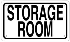 STORAGE ROOM SIGN - WHITE ALUMINUM (6X10)