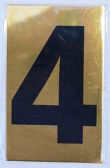Apartment number sign 4 – (GOLD, ALUMINUM SIGNS 4X2.5)