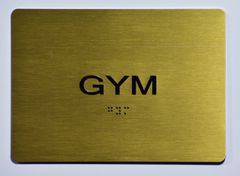 GYM Sign - GOLD