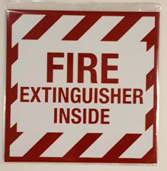 FIRE EXTINGUISHER INSIDE SIGN – PURE WHITE (4X4)