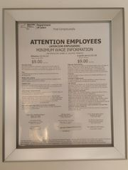NYS DEPARTMENT OF LABOR Frame 8.5 x 11 (Heavy Duty )